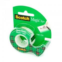 3M Taśma klejąca 810 matowa Scotch Magic 19x7,6m z podajnikiem 8-1975